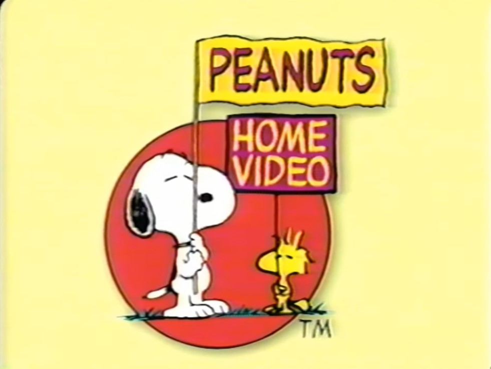 Peanuts Home Video yellow backround