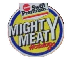 Swift Mighty Meaty Hotdogs logo