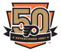 Philadelphia Flyers logo (50th anniversary)