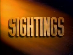 Sightings Title Card