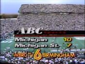 WBRC-TV Channel 6 Station ID During Michigan-Michigan State Game in 1989