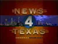 KDFW News 4 Texas 10PM open - 1995