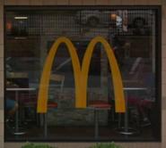 McDonald's window logo (688 8th Avenue NYC variant)