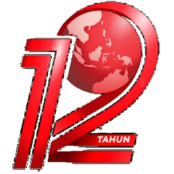 TVONE 12 TAHUN NUMBER WITH GLOBE RED