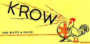 KROW - 1930 -December 16, 1933-