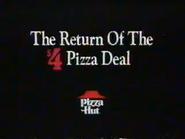 Pizza Hut 4 Dollar Pizza Deal URA TVC 1991 - Part 1