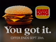 Burger King AS TVC - BK Doubles - 1991