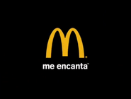 McDonald's East and West Cybersland logo (used at the end of Spanish commercials targeted to Hispanic people and Spanish-speaking people (they speak Spanish in either Latin American dialect or Spain dialect) since 2003)