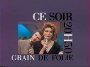 Telecinq promo - Grain de Folie - 1991