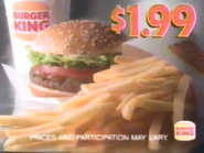 Burger King URA TVC - Whopper Value Meal - 1995