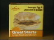 Swanson Great Starts Frozen Breakfast Sandwiches TVC - March 1987 - 1