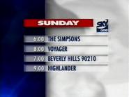 Sky One Sunday lineup 1996