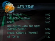 Sky One lineup 1989 1