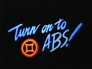 Turn on to ABS ID orange blue