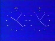 Sky TV - clock - 1985