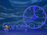 TN Canal 1 generic clock with 1990 logo