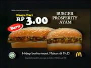 McDonalds Pacifilavia Burger Prosperity Ayam Malay TVC 2003