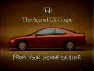 Honda Accord LX Coupe URA TVC 1994