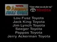Toyota Summer Sales Event URA TVC 1994 - 2
