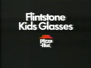 Pizza Hut Flintstone Kids Glasses TVC - 3-25-1987 - 2