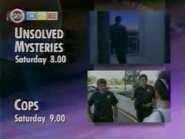 Sky One promo - Unsolved Mysteries - Cops - 1993