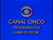 Canal 5 - sign-on 1988