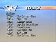 Sky lineup 1988