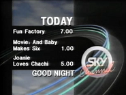Sky Channel closedown lineup 1989