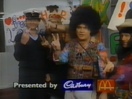 Four Network sponsor billboard - Cadbury McDonalds - 1991