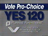 Planned Parenthood and League of Women Voters of Nashwington - Yes 120 Pro-Choice - URA TVC 1991 - Part 1