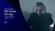 Univision promo - Por Amar Sin Ley - 2019