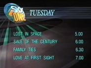 Sky One Tuesday lineup 1990
