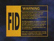 UEHV 1995 FID screen - VHS
