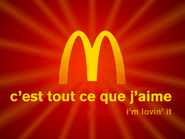 McDonald's Centlands golden arches forming logo