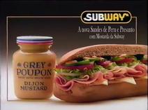 Subway Turkey & Ham Dijon sub MTS