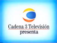Cadena 3 presenta blue white gradient