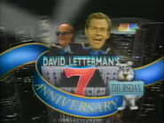 NBC promo - David Letterman's 7th Anniversary Special - 1-29-1989