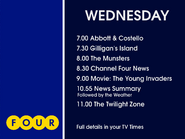 Channel 4 Wednesday lineup 1972