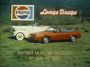 Pepsi Longs Drugs car giveaway TVC 5-15-1988