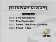 Sky One Sunday lineup 1997