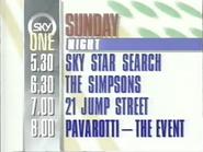 Sky One Sunday promo 1992