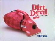 Dirt Devil Hand Vac URA TVC 1991