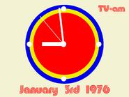 TV AM clock January 3 1976