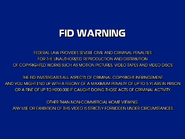 UEHV FID screen - 1981 - Laserdisc