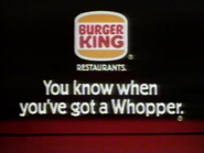 BK AS TVC - Whopper - 1982