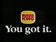BK AS TVC 1992