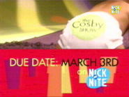 Nick at Nite Anglosaw promo - The Cosby Show - Due March 3rd (2002)