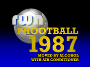 RWN Phootball 1987 card