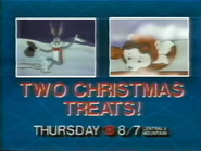 CBS promo - Two Christmas Treats - 12-21-1987