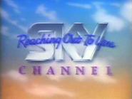 Sky Channel orange blue ID with tagline